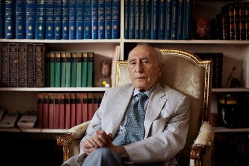 "Ehsan Yarshater in 2011. ""He was generally referred to during his own lifetime as the doyen of Iranian studies,"" a fellow scholar said.Marcus Yam for The New York Times"